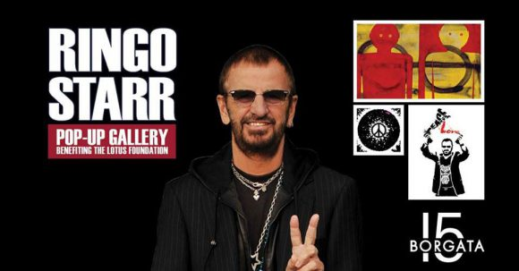 Poster for Ringo Starr's popup art gallery at the Borgata, Atlantic City, 2018