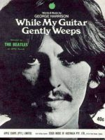 Sheet music cover for While My Guitar Gently Weeps