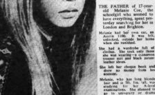 Daily Mail report on Melanie Coe which inspired She's Leaving Home, 27 February 1967