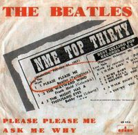 Please Please Me single artwork - Spain
