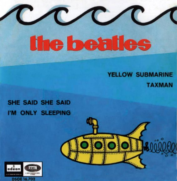 Yellow Submarine EP artwork - Spain