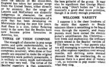 What Songs the Beatles Sang by William Mann (The Times newspaper)