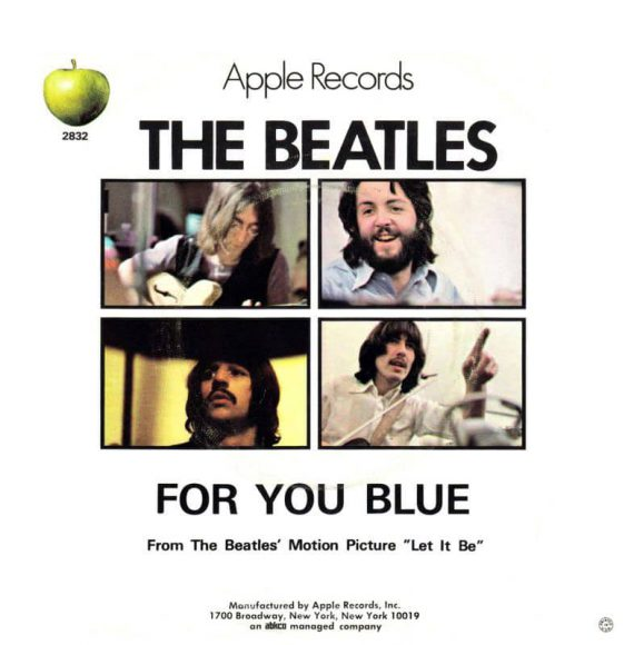 For You Blue – USA b-side, 1970