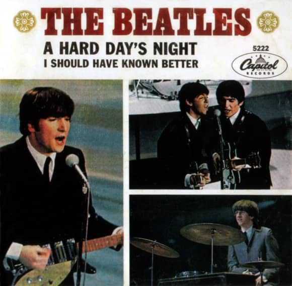 A Hard Day's Night single artwork – USA