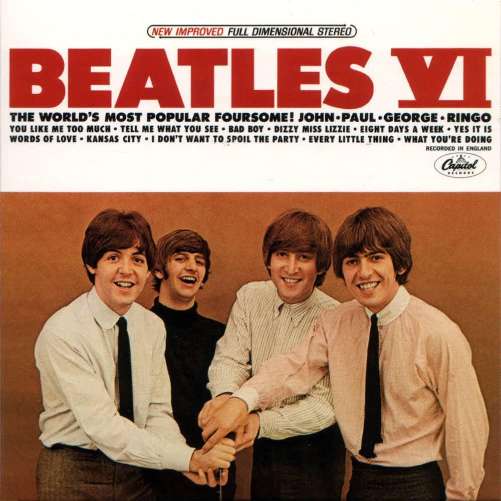 Beatles VI album artwork - USA