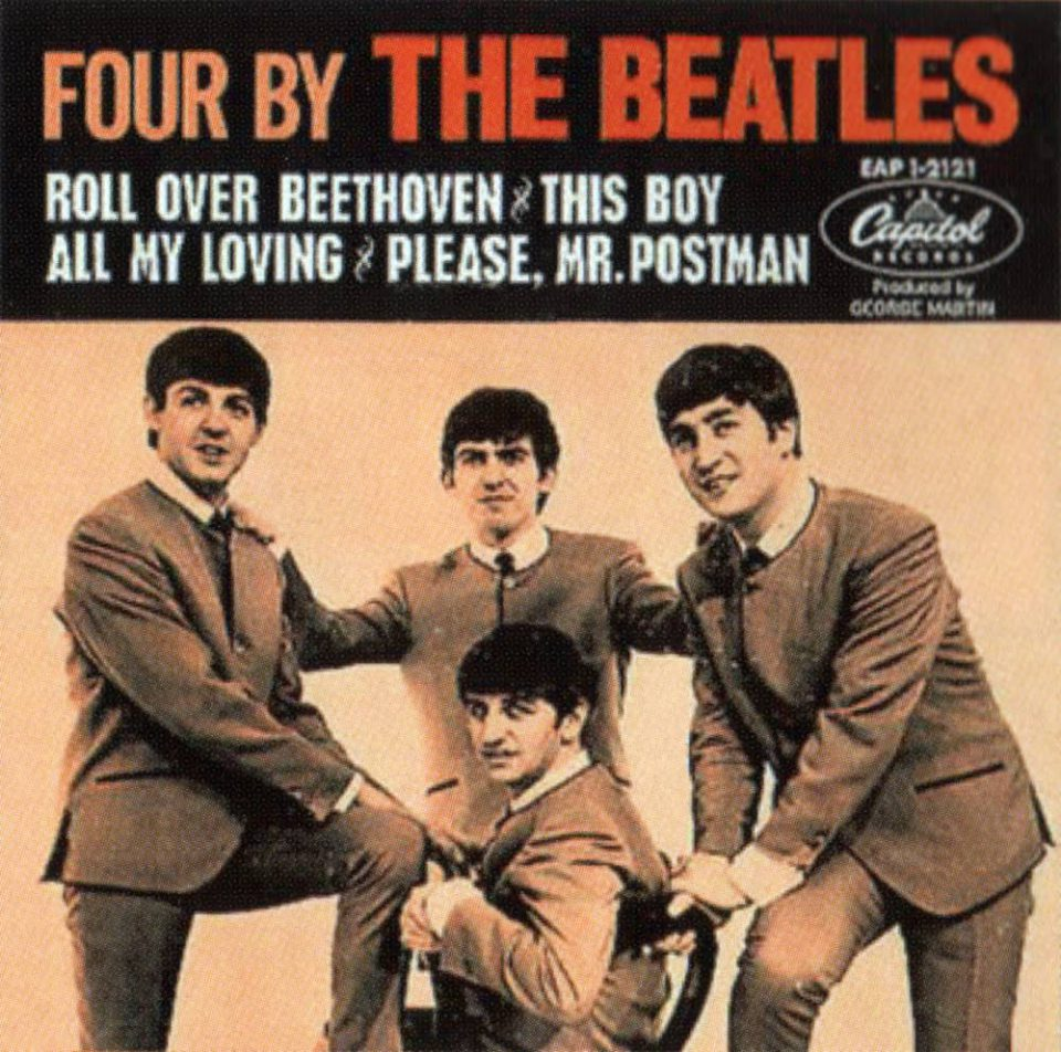 Four By The Beatles EP artwork – Canada, USA