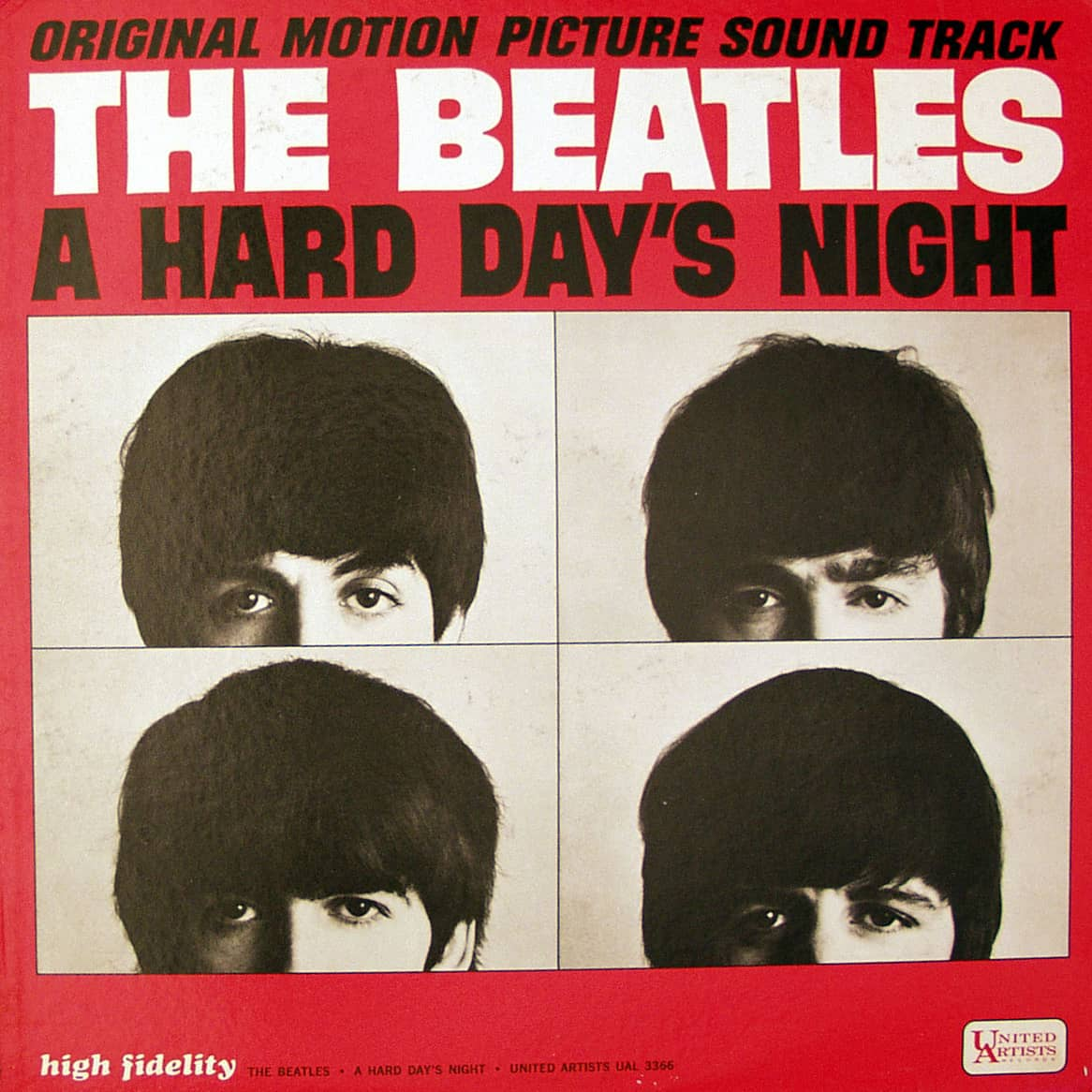 A Hard Day's Night album artwork - USA