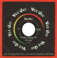 Please Please Me single artwork (Vee Jay) - USA