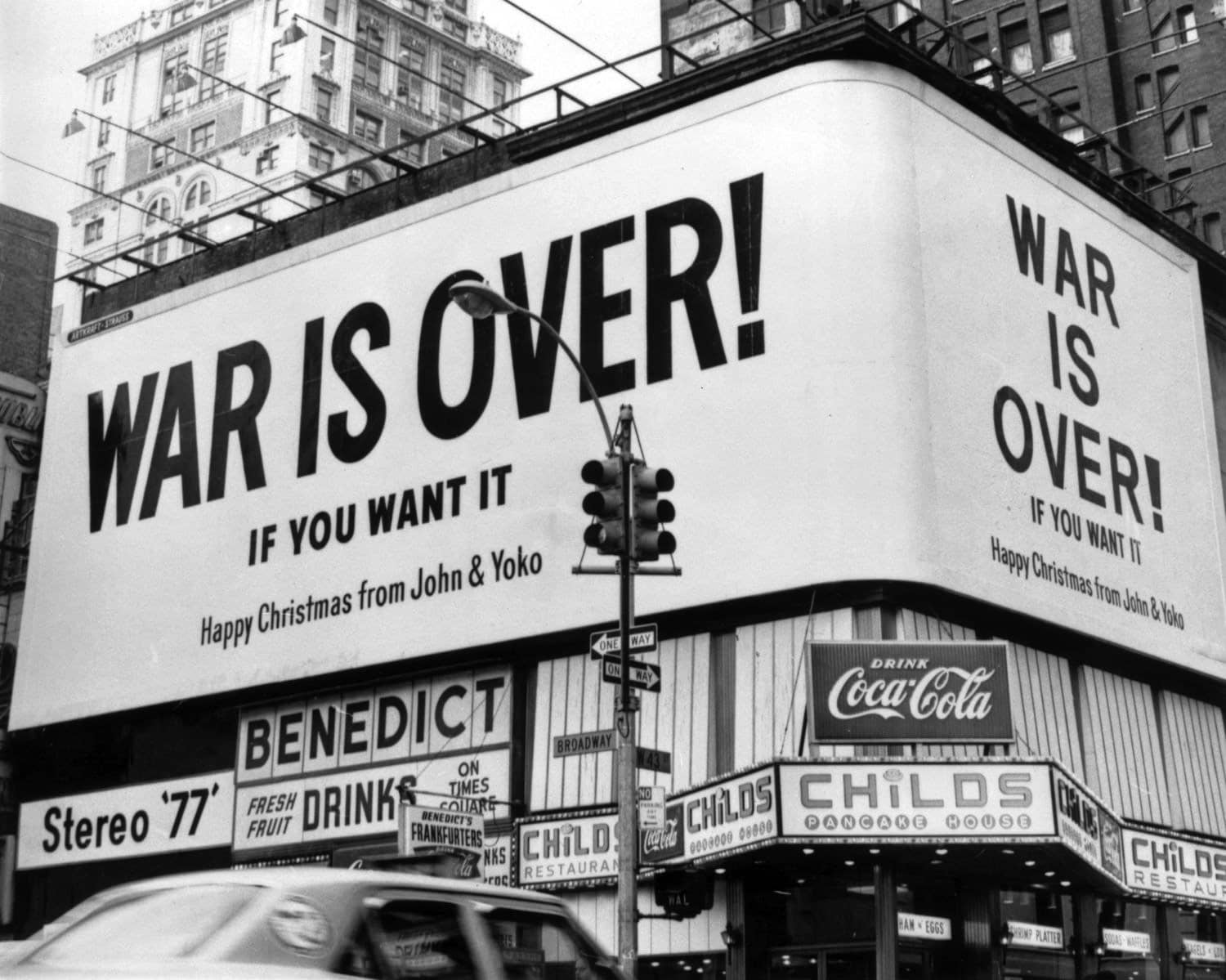 John Lennon and Yoko Ono\'s \'War Is Over\' poster campaign is launched ...