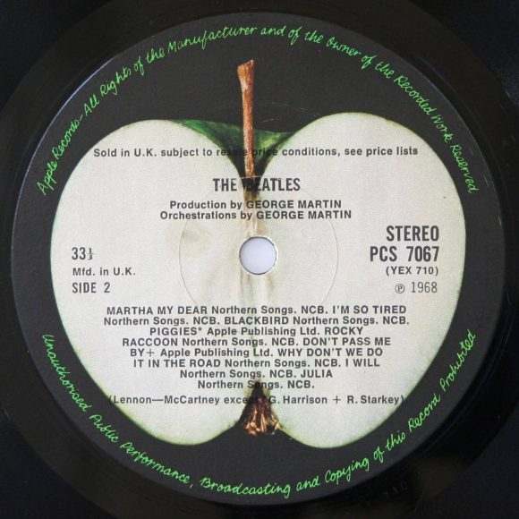 The Beatles (White Album) label, side 2