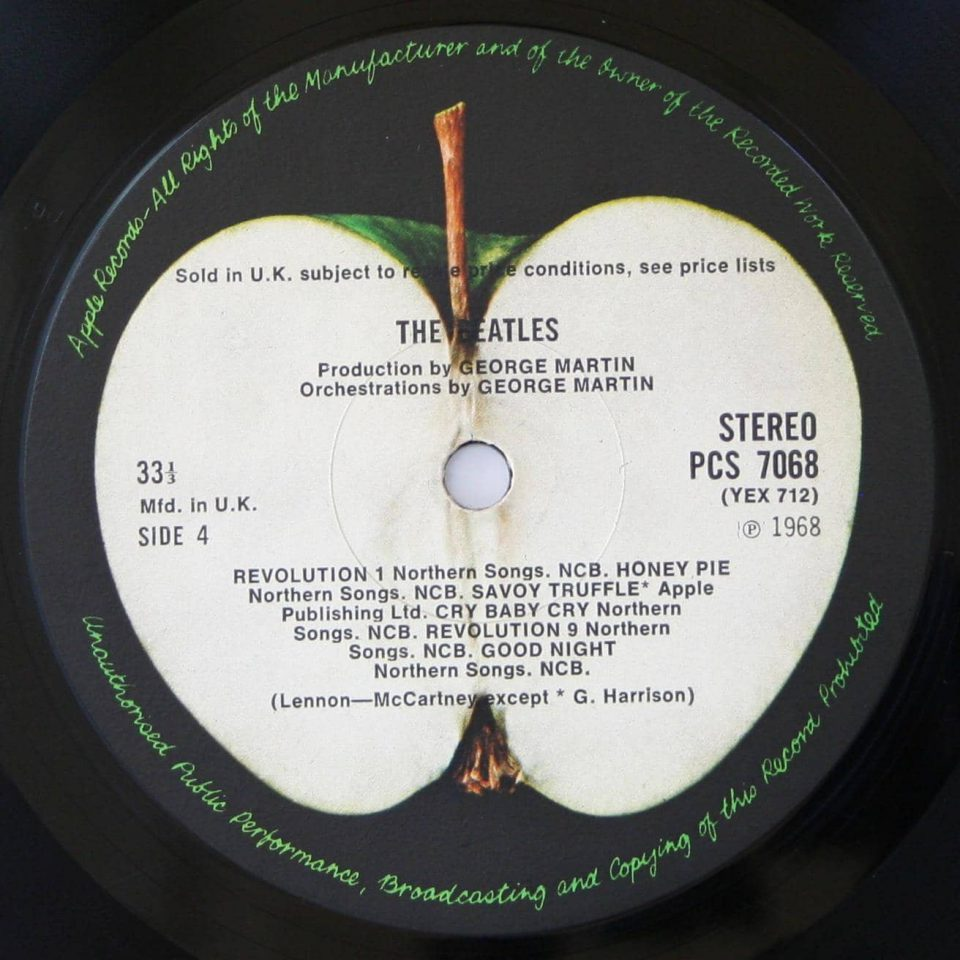 The Beatles (White Album) label, side 4