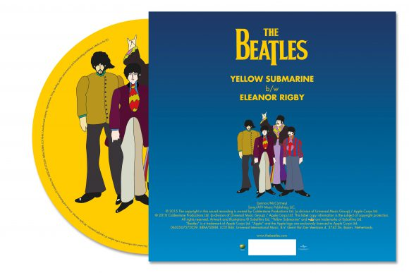 The Beatles' Yellow Submarine/Eleanor Rigby – 2018 limited edition picture disc single (back)